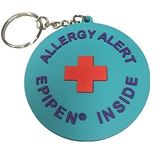 EpiPen Keychain: Allergy Alert – EpiPen Inside Keyring (Twin Pack)