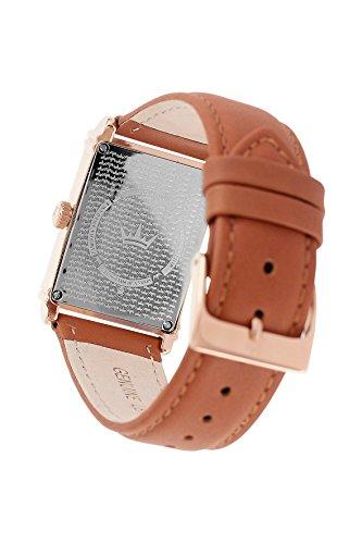 Yonger & Bresson–UNHCR 1706–72–Herrenuhr–Quarz–Analog Zifferblatt Beige–Armband Leder braun - 2