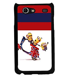 printtech Minions Scooter Back Case Cover for Samsung I9070 Galaxy S Advance :: Samsung Galaxy S II Lite