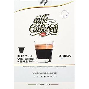Caffè Carbonelli Capsule Compatibili Nespresso - Pacco da 120 pezzi Decaffeinato
