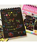 #2: Felicity Rainbow Scratch Paper Note With Wooden Stylus, 3 Pages - Pack of 3