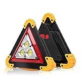 Faro Da Lavoro a LED Portatile, SUNJULY 2 Pezzi 4 Modalità LED Spia Triangolo COB Luce Riparazione Di Auto Ricaricabile Impermeabile 30 W Per Assistenza Stradale, Illuminazione Del Cantiere