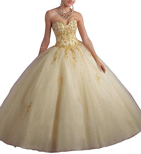 Bridal_Mall - Robe - ball gown - Femme Beige