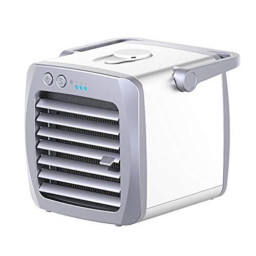 Mini tragbarer Tischventilator, leiser Luftreiniger Luftbefeuchter mit Zyklon Luftwirbelkühler Kleiner persönlicher USB-Tischventilator für Reisen zu Hause oder im Freien -