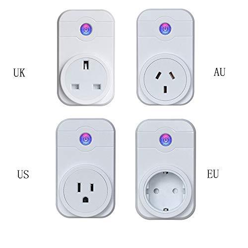 ZUEN Smart Socket WiFi Handy-Schalter Timing-Stecker Sprachsteuerungsbuchse Europäische Norm US-Buchse,US (Drahtlose Licht-buchse)