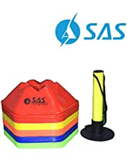 SAS Sports Agility Training Hexa Saucer Cone (Set of 50) for, Football, Soccer, Field Marking, Speed Coordination
