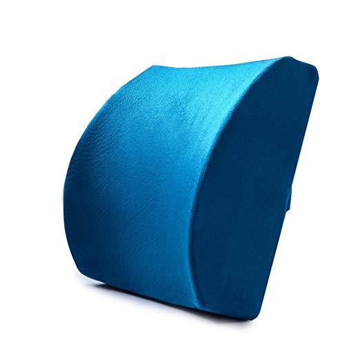 MMXD Reiseerleichterung Auto Lordosenstütze Rückenkissen & Kopfstütze Nackenkissen Design Universal Fit für Autositz mit Rückenschmerzen Linderung,Blue