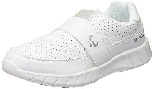 Suecos® Unisex-Erwachsene Edda Arbeitsschuhe, Weiß (White), 45 EU
