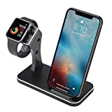 BNCHI Fast Phone Wireless Charger with Watch Stand Compatible with iPhone Xr/Xs Max/Xs/X/8 Plus/8 and Watch Series 4/3/2/1 (A18-Black)