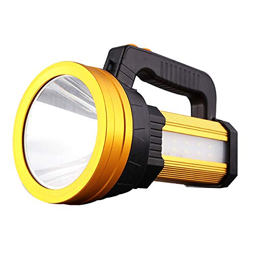 LED Rechargeable Handheld Searchlight Linterna Camping LED al aire libre, IPX4 Impermeable...
