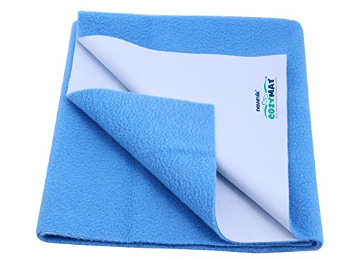 Newnik Cozymat Soft, Water-Proof & Reusable Mat (Size: 70cm X 100cm) Firoza, Medium