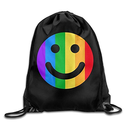 ucksäcke, Monkeys Playing Printed Youth Drawstring Backpack Teens Heavy Duty Daypack Tote Party Lightweight Unique 17x14 IN ()