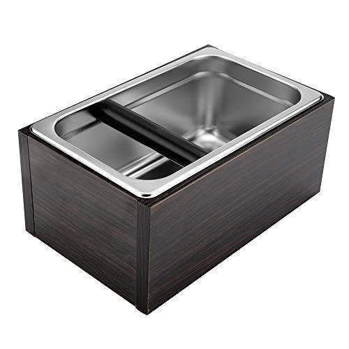 Coffee Knock Box - Poubelle à café en acier inoxydable avec poignée, boîte à café, poubelle