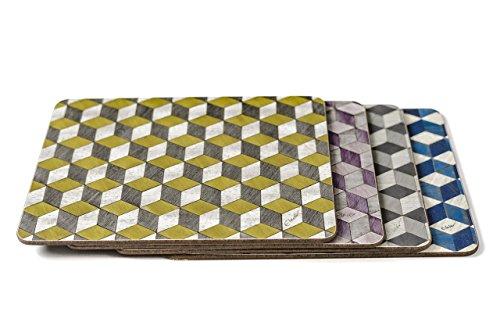 4-placemat-set-retro-mixed-colour-place-mats-292-x-216-x-48mm-heat-resistant
