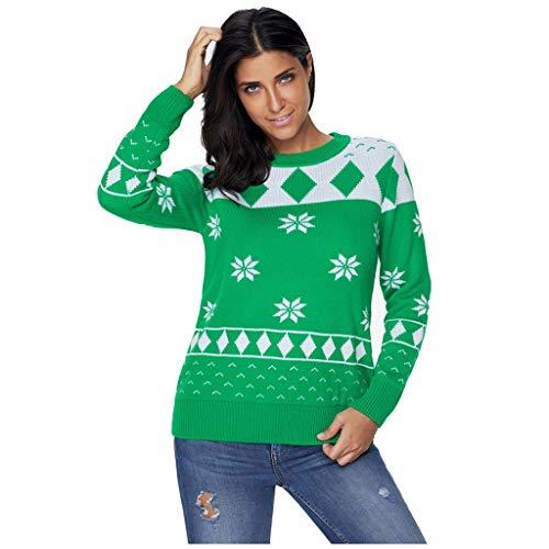 Pullover Donna Invernale Magliette Di Natale Sweater Donna Maglioni Lunghi Donna Top Sportivo Donna Magliette Sportive Donna Top Donna Elegante Regali Natale Per Ragazze F