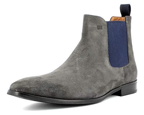 Gordon & Bros Herren Chelsea Boots City S181837,Männer Stiefel,Halbstiefel,Stiefelette,Bootie,Schlupfstiefel,Grey,EU 45