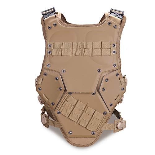 YOROOW Taktische Weste Eva Protective, MOLLE System Einstellbare Military Combat Game Outdoor Paintball Airsoft Jagdausrüstung Zubehör,Mud