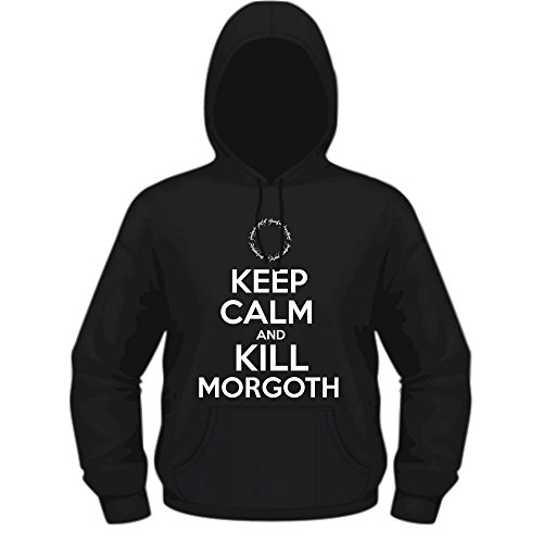 Creepyshirt - KEEP CALM AND KILL MORGOTH - TLOTR THE LORD OF THE RINGS THE SILMARILLION INSPIRED HOODIE - L