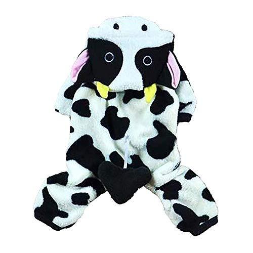 Milchkuh Kostüm - Yslin Streetwear Verkleidungen Pet Warme Kleidung, Puppy Dog Coat Winter Niedliche Milchkühe Pullover Bekleidung für Welpen Chihuahua Teddy Mops Weihnachtsfeier Kostüm Frühjahr Cute