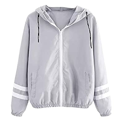 Leicht Jacke Damen,Innerternet Frauen Übergangsjacke Jacke mit Kapuze Windbreaker Kapuzenjacke Sweatjacke Zip Hoodie für Fitness Training, Yoga & Pilates von Innerternet