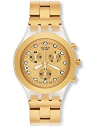 Swatch Analog Gold Dial Women's Watch - SVCK4032G