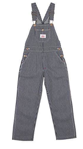 Roundhouse Childrens Dungarees Hickory Stripe Blue Kids Denim Overalls