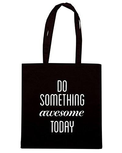 T-Shirtshock - Borsa Shopping CIT0060 Do something awesome today Nero