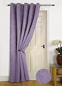 """""""Seville"""" Mauve Thermal DOOR Curtain - Reduces Heat Loss, Prevents Draughts, Saves Energy."""