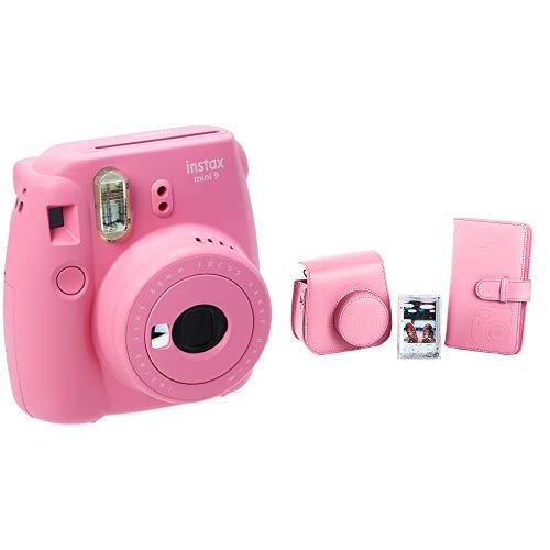 Fujifilm Instax Mini 9 Kamera, flamingo rosa + Mini 9 Accessory Kit Flamingo Pink