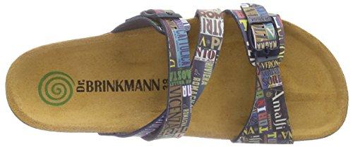 Dr. Brinkmann 700892 Damen Pantoletten Blau (marine/bunt)