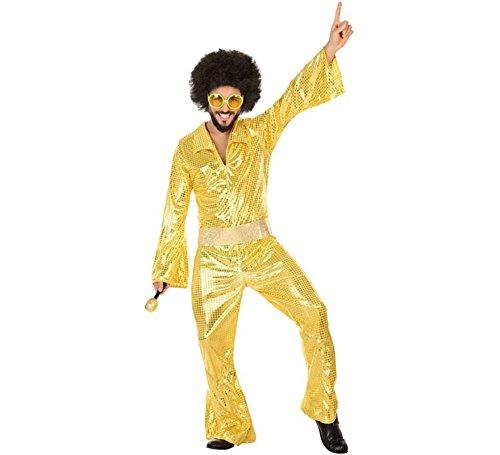Atosa Disfraz de Disco Dorado para Hombre