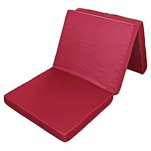 xl klappmatratze faltmatratze g stebett bordeaux 195 x 80 x 10 cm k che haushalt. Black Bedroom Furniture Sets. Home Design Ideas