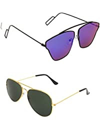 8f90116ca5 Amour Unisex Combo Offer Pack of UV Protected Cateye   Aviator Stylish  Sunglasses For Men Women