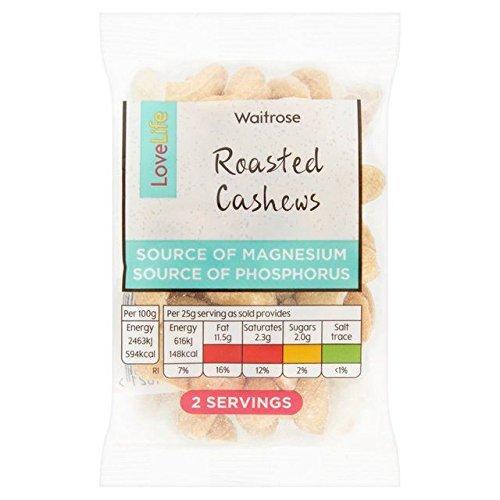 Waitrose LoveLife Roasted Cashew Nuts 50g