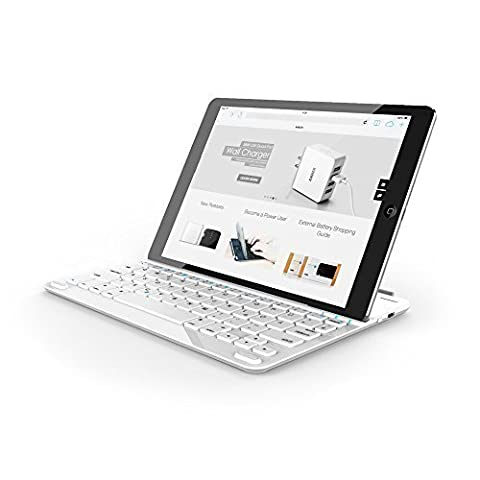 Anker Ultra-Thin Deutsche Bluetooth Tastatur Keyboard Case Cover für Apple iPad Air 2 / iPad Air / New iPad 9.7