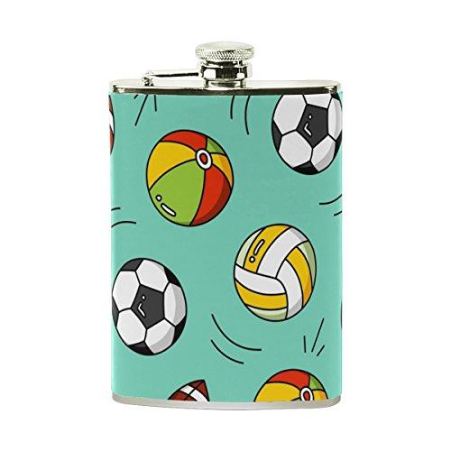 jeansame Personalisierte Flachmann Mini-Fläschchen Edelstahl 8oz für Frauen Herren Baseball Football Fußball Sport