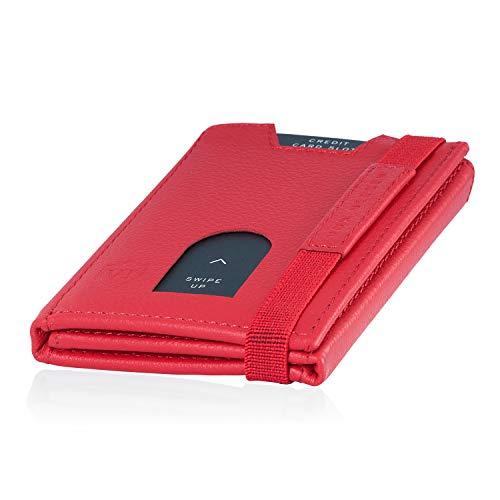 c04ea19b6c588 VON HEESEN Mini Geldbörse Damen Ohne Münzfach 6-12 Karten mit RFID-Schutz  Portemonnaie