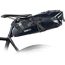 Large capacity TPU waterproof Bike Bicycle Saddle Bag Seat Bag Under Seat Packs Tail Pouch Cycling Bicycle Mountain Road MTB Bike Bicycle Bike Seat Tail Bag (Black)