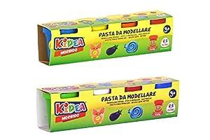 GLOBO, Play Dough 4 X 50Grs 2Asst (40320), Multicolor (1)