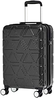 AmazonBasics Pyramid 20 inch 55 Cm Black Hardsided Carry-On Trolley Suitcase with TSA Lock and Scratch Resista