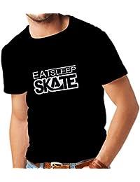 Camisetas hombre Coma - sueño - patín - para los patinadores, skateboardboard, skateboard gifts