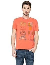 Desigual Herren T-Shirt Modell TS INKED ORANGERY 61T14A7 7029