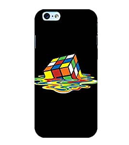 Printtech Designer Printed Rubic Cube Melting Back Cover for Apple iphone 6 / iphone 6s With Shockproof Technology