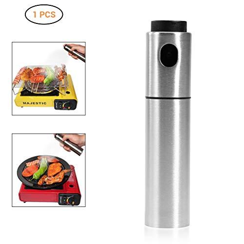 AimdonR 100ml Lebensmittelqualität Edelstahl Öl Sprayer Nachfüllbar Olivenöl Flasche zum Kochen BBQ Grillen Braten