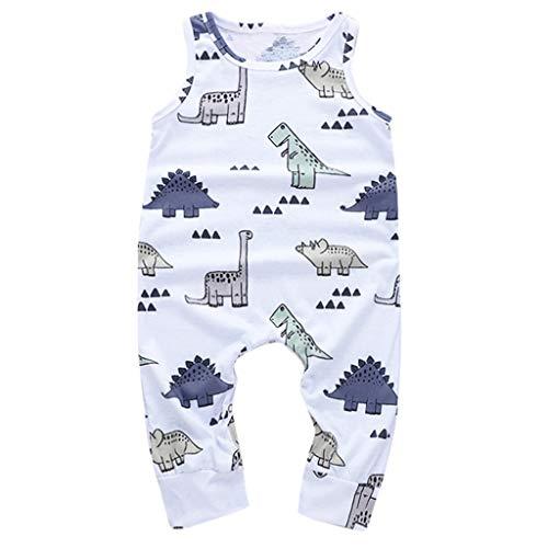 TICOOK Strampler für Kleinkinder, Jungen, Cartoon-Dinosaurier-Motiv Gr. M, weiß (Jungen-ring-träger-outfit)
