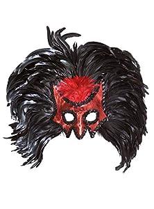 WIDMANN Devil Masks with Maxi Feathers