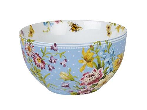 Katie Alice English Garden Tiefe Porzellan Müslischale mit Vintage-Blumenmuster, 15 cm x 8cm (6 x 3)