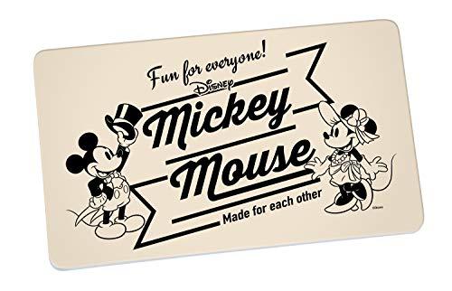 Disney Mickey Mouse 13758 Disney Mickey & Minnie Vintage Fun for Everyone Brotbrett, Frühstücksbrett, Frühstücksbrettchen, Brett, Brettchen, Melamin, Beige