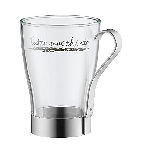 WMF Latte Macchiato Glas matt Cromargan Edelstahl rostfrei 18/10 mattiert spülmaschinengeeignet (Latte Macchiato Tasse)