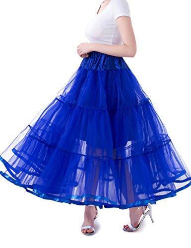 Tsygirls 1950's Petticoat Reifrock Unter Rock Unterrock Röcke Underskirt Crinoline Vintage Swing Oktoberfest Kleid Königsblau